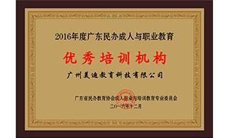 美迪电商培训学院-优秀培训机构证书