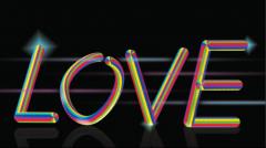 让你快速掌握制作简单又不做作的彩虹立体字