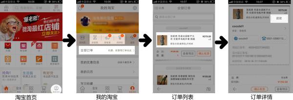 <a href='http://www.mede.com.cn/share/clipart/211.html' target='_blank'><u>手机淘宝</u></a>退款流程